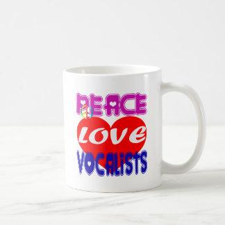 Vocalistas del amor de la paz tazas