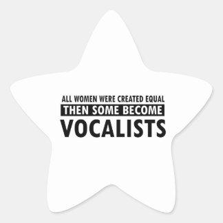 Vocalists music designs star sticker