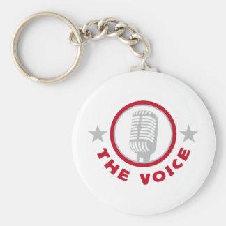 vocals basic round button keychain