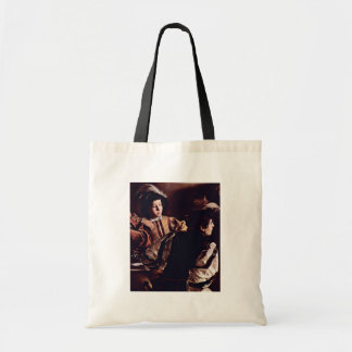 Vocation Of St. Matthew, Detail By Michelangelo Canvas Bags
