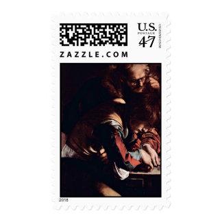 Vocation Of St. Matthew, Detail By MichelangeloM Postage Stamp