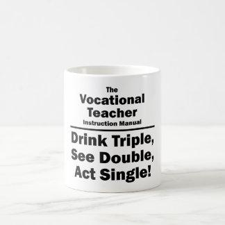 vocational teacher classic white coffee mug
