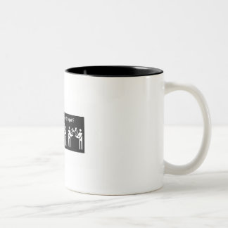 Você tem fome de quê? Two-Tone coffee mug