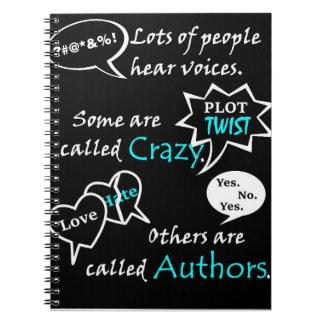 Voces de la audiencia spiral notebook