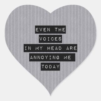 Voces en mi cabeza colcomanias de corazon