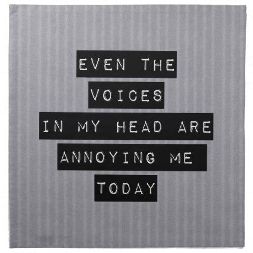 Voces en mi cabeza servilletas imprimidas