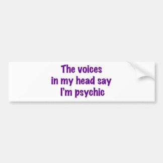 Voces psíquicas pegatina de parachoque