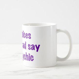 Voces psíquicas tazas de café