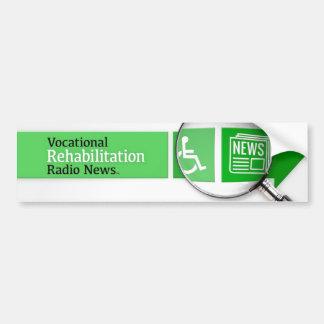 VocRehabRadio News Logo Sticker Car Bumper Sticker