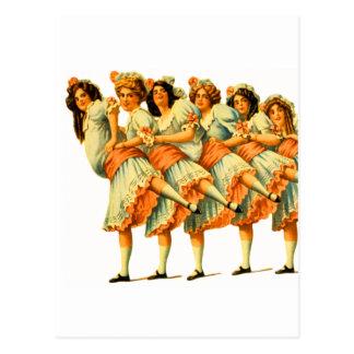 Vodevil de los bailarines de los chicas de baile tarjeta postal