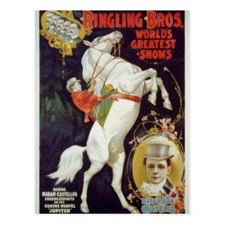 Vodevil, demostraciones del circo postales