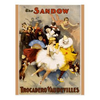 Vodevil - el Sandow, vodeviles de Trocadero Tarjeta Postal