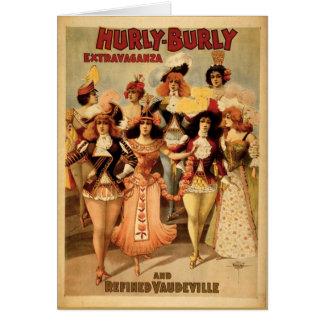 Vodevil - extravagancia corpulenta de Hurly, 1899, Felicitacion