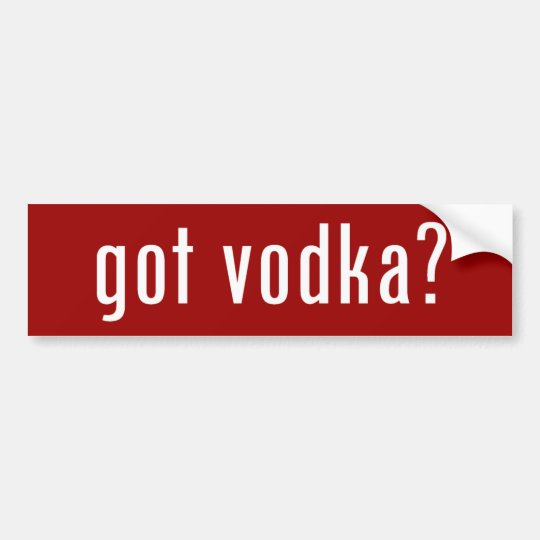 ¿vodka conseguida? pegatina para auto