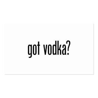 vodka conseguida tarjetas de visita