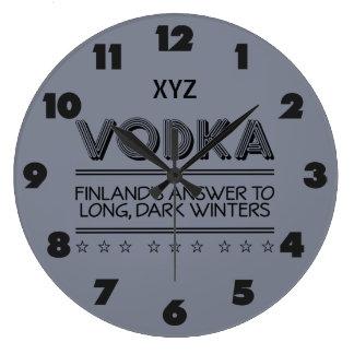 VODKA custom color wall clock