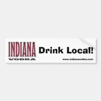Vodka de Indiana - pegatina para el parachoques de Etiqueta De Parachoque