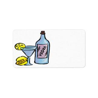 Vodka Etiquetas De Dirección