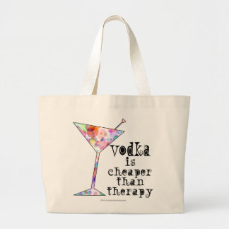 VODKA IS CHEAPER THAN THERAPY COCKTAIL TOTE BAG