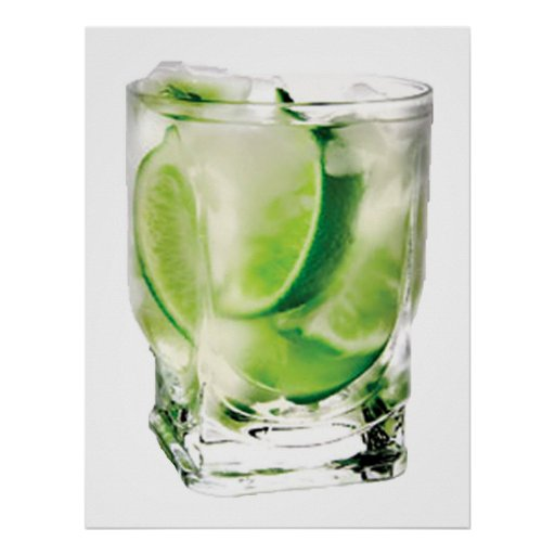 Vodka Lime POSTER Print