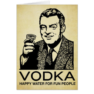 Vodka Retro Card