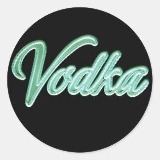 Vodka Round Sticker