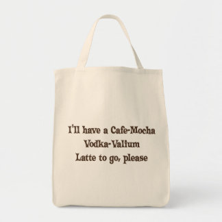Vodka-Valium Latte de la Café-Moca Bolsa Tela Para La Compra