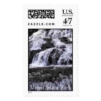 Vogel State Park Falls, Vogel State Park Postage Stamp