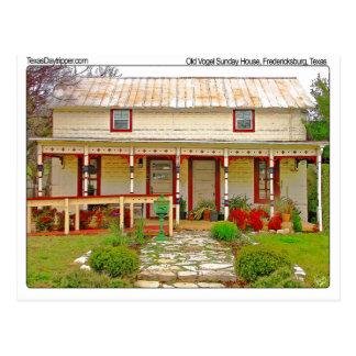 Vogel Sunday House, Fredericksburg, TX Postcard