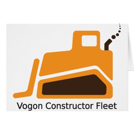 Vogon Constructor Fleet Greeting Card