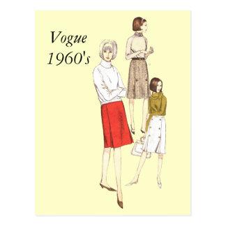 Vogue 1960s, Vogue1960's Postcard