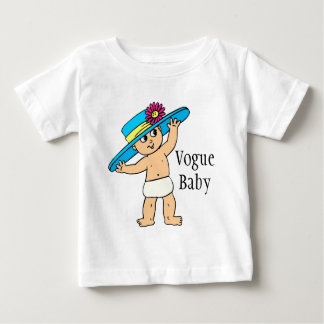 """Vogue Baby"" With Hat Cute Infant T-Shirt"