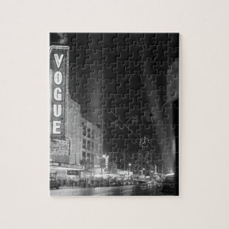 Vogue Theatre at night with spotlights Puzzle