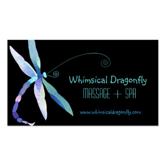Voguish Dragonfly Massage + Spa Appointment Cards Double-Sided Standard Business Cards (Pack Of 100)