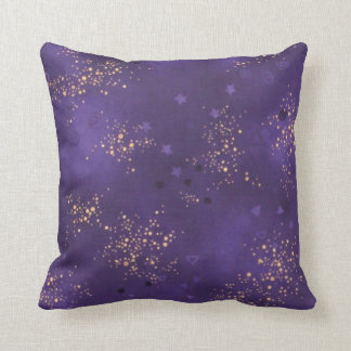 Voguish Royal and Gold Throw Pillow