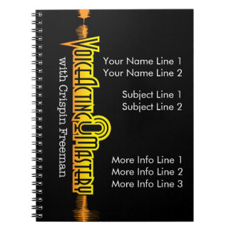Voice Acting Mastery Customizable Notebook - Black