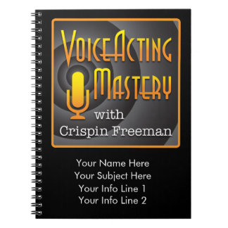 Voice Acting Mastery Customizable Notebook - PL B
