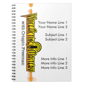 Voice Acting Mastery Customizable Notebook - White