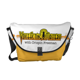 Voice Acting Mastery MED Messenger Bag - White Y