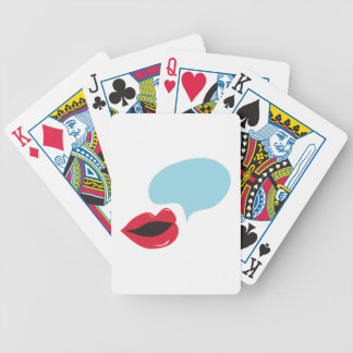 Voice Bubble Bicycle Playing Cards
