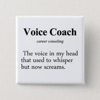 Voice Coach Definition Pinback Button