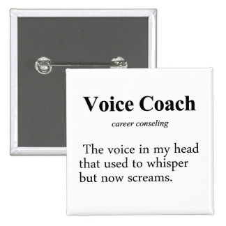 Voice Coach Definition Pinback Button