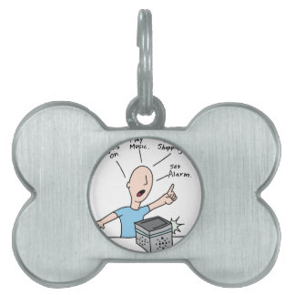 Voice command device technology pet ID tag