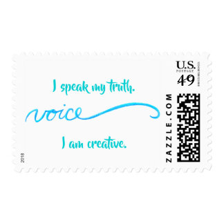 Voice Inspirational Words Chakra Postage Stamps
