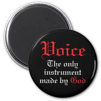 Voice Music Gift 2 Inch Round Magnet