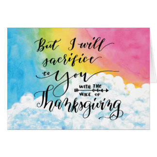Voice of Thanksgiving Card