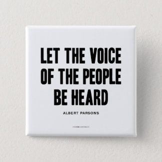 Voice of the People Haymarket Resistance Button
