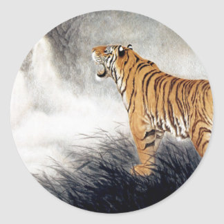 Voice of the Tiger Classic Round Sticker
