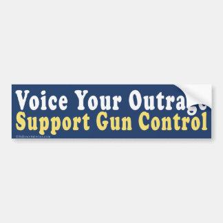 Voice Outrage Support Gun Control Bumper Sticker