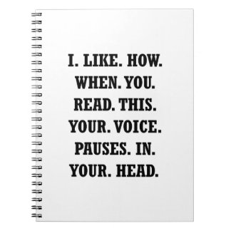 Voice Pause Spiral Notebook